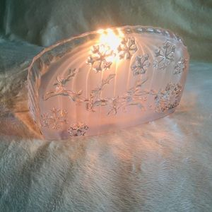 Other - Glass Christmas Candle Holder